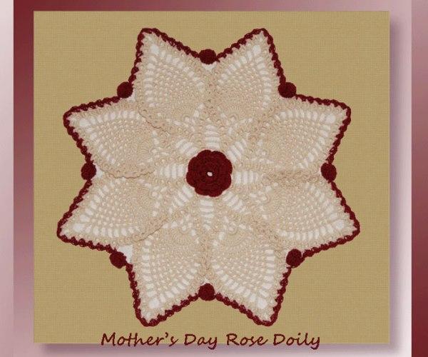 Mother's Day Rose Doily   <br /><br /><font color=