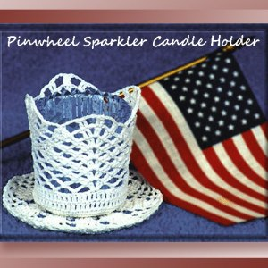 Pinwheel Sparkler Candle Holder