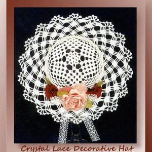 Crystal Lace Decorative Hat