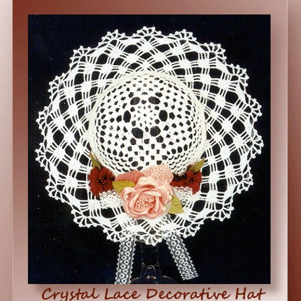 Crochet Stitches Decorative : Crystal Lace Decorative Hat - Crochet Decorative Hat Patterns