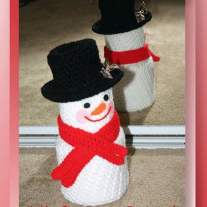 Jolly Snowman Textured Bath Tissue Cover