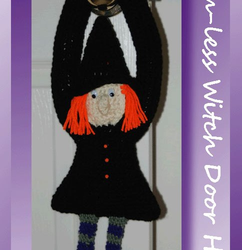 Broom-less Witch Door Hanger    <br /><br /><font color=