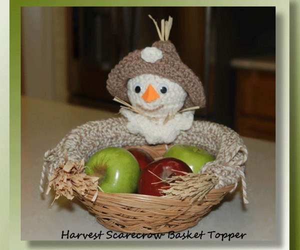 Harvest Scarecrow Basket Topper    <br /><br /><font color=