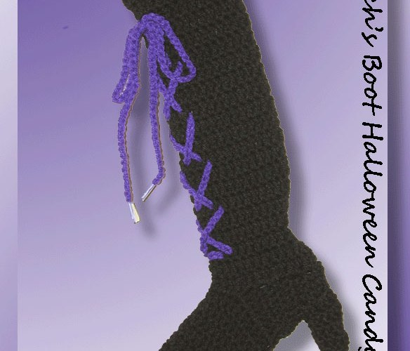 Ol' Witch's Boot Halloween Candy Holder   <br /><br /><font color=