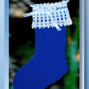 Christmas Snowflake Stocking