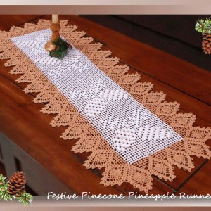 Festive Pinecone Pineapple Runner