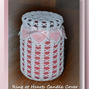 Ring of Hearts Candle Cover