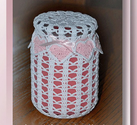 Ring of Hearts Candle Cover   <br /><br /><font color=