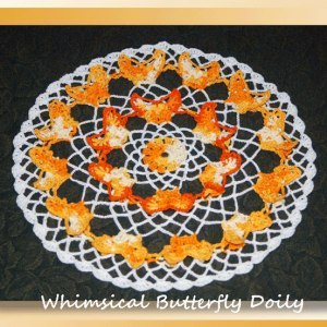 Whimsical Butterfly Doily