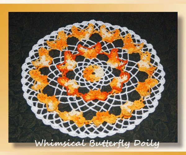 Whimsical Butterfly Doily   <br /><br /><font color=