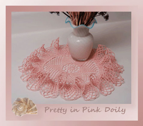 Pretty in Pink Doily   <br /><br /><font color=
