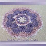 Shades of Purple Doily