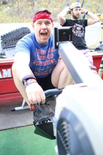 Nothing like a bit of fun on the Rooftop with some Rowing intervals Pic: Angela Clancy