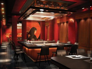 Teppanyaki offers a full Asian dining experience.