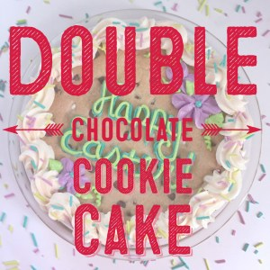 Double Chocolate Cookie Cake Recipe