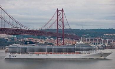 MSC Preziosa em Lisboa