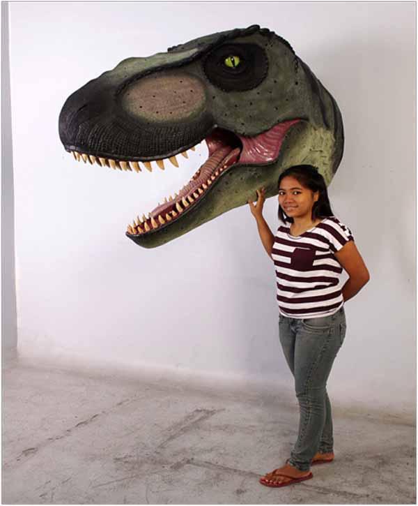 T-Rex head, mouth open