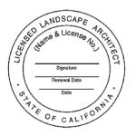 California Landscape Architect Stamp