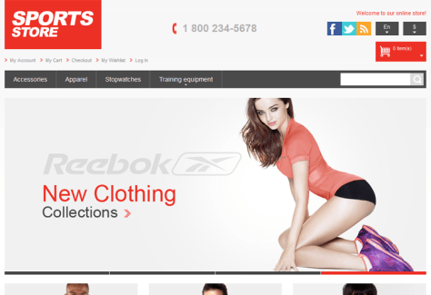 Athletic Store Responsive Magento Theme - cssauthor.com