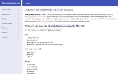 Material Design Lite for Dart Developers