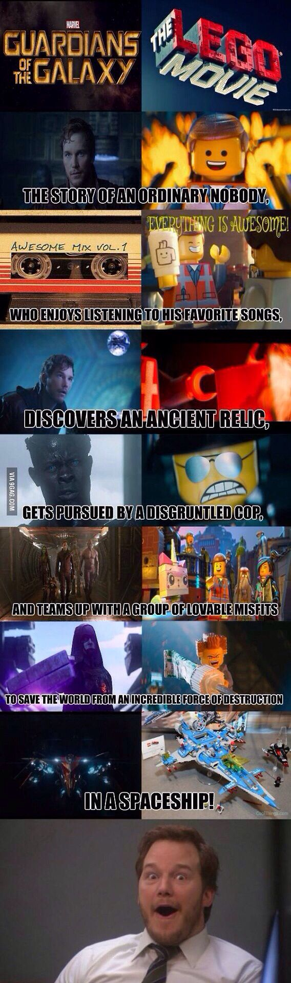 Guardians of the Galaxy the LEGO Movie