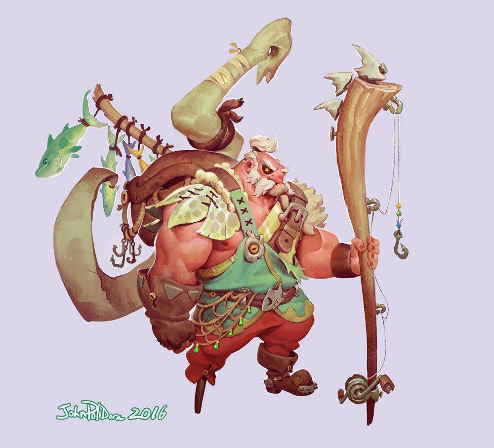 Fishing barbarian Garp por John Polidora