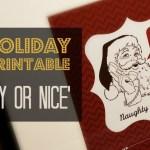 DIY Holiday FREE Printable 'Naughty or Nice' Print