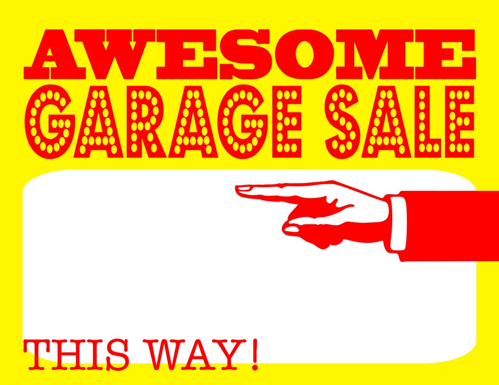 Satisfactory image in printable garage sale sign