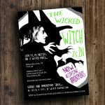 DIY Printable 'The Witch is In' Halloween Invite