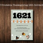 DIY Printable Thanksgiving 'Party Like it's 1621' Invite