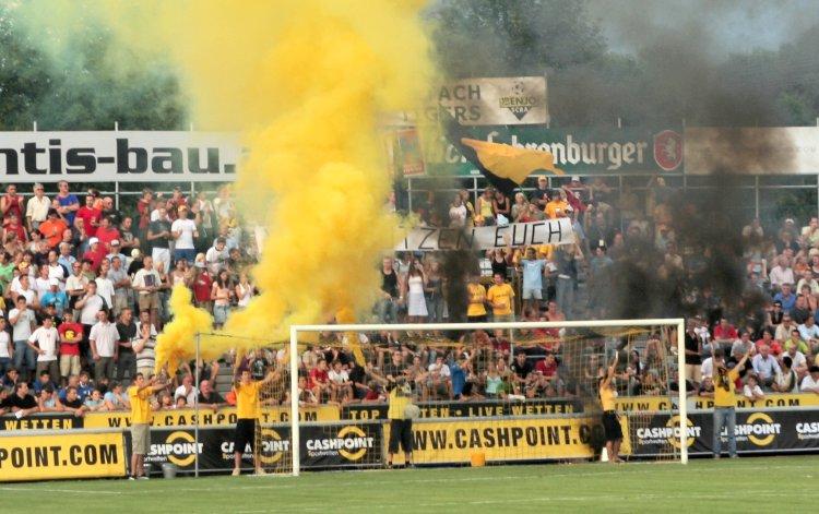 El ambiente en el Stadion Schnabelholz