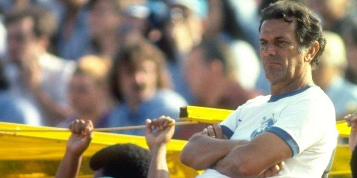 Jan 1981: Brazilian Coach Tele Santana watches a match. Mandatory Credit: Allsport UK /Allsport
