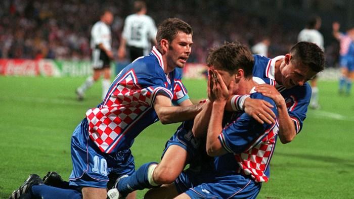 FIFA World Cup France '98 4/7/98 Germany v Croatia Lyon Pic : Nick Potts / Action Images Croatia's Robert Jarni celebrates scoring the 1st goal