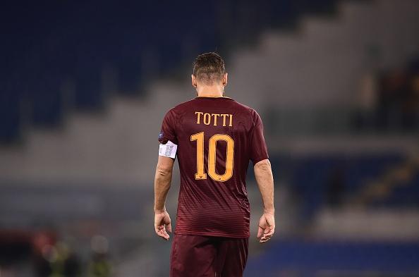 Totti, el falso 9 de la Roma.