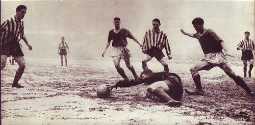 Athletic vs Manchester United en un San Mamés nevado