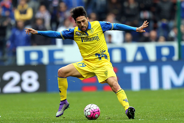 GENOA, ITALY - MARCH 20: Lucas Castro of AC Chievo Verona in action during the Serie A match between UC Sampdoria and AC Chievo Verona at Stadio Luigi Ferraris on March 20, 2016 in Genoa, Italy. (Photo by Gabriele Maltinti/Getty Images)