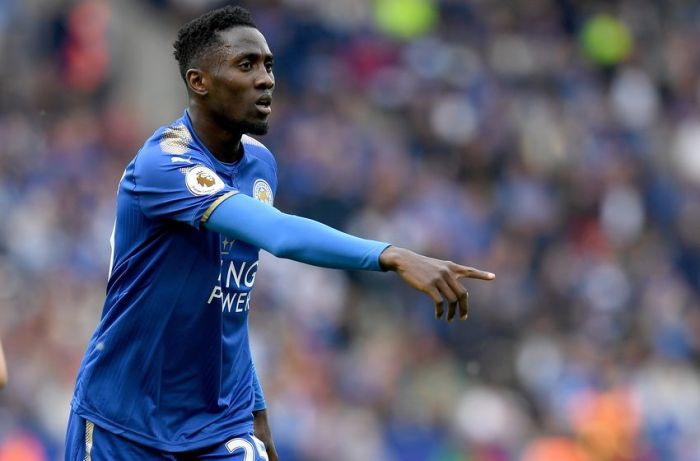 LEICESTER, ENGLAND - MAY 21: Wilfred Ndidi of Leicester City in action during the Premier League match between Leicester City and AFC Bournemouth at The King Power Stadium on May 21, 2017 in Leicester, England. (Photo by Ross Kinnaird/Getty Images)