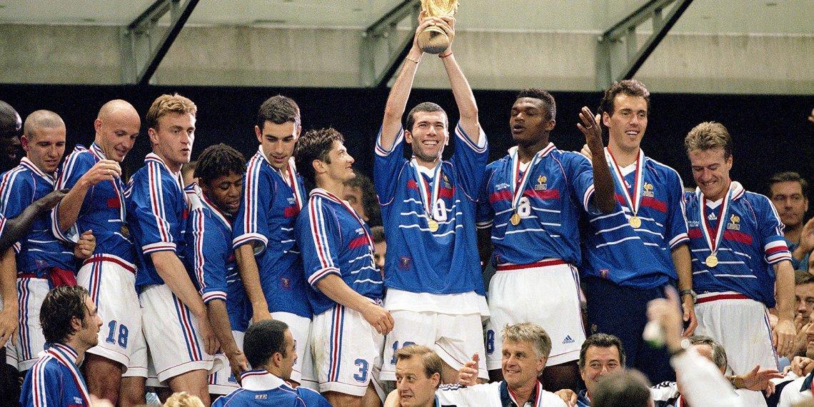 El campeón en 1998, con muchos jugadores de origen africano.