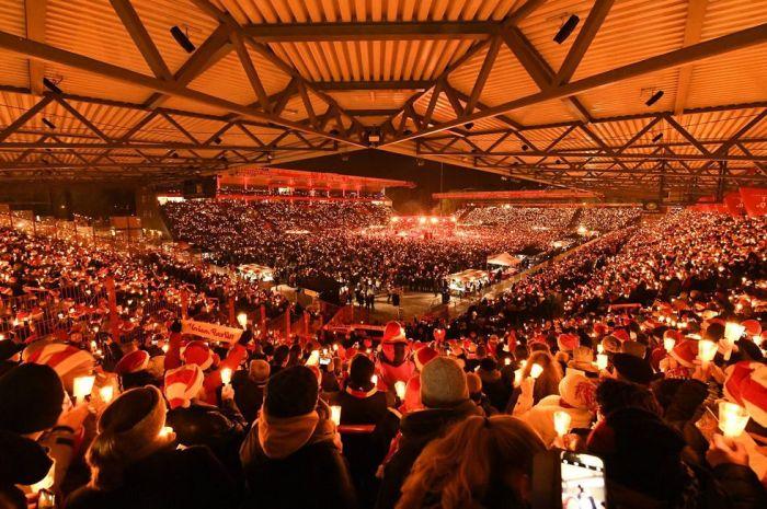 Navidad en el estadio de Unión Berlín