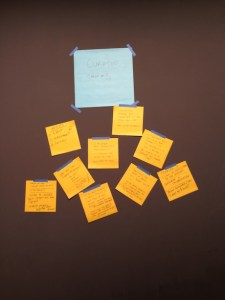 The Curator Post-It Wall