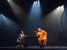 NOMA DUMEZWENI and MATTHEW MARSH in  A HUMAN BEING DIED THAT NIGHT Photo by Richard Termine