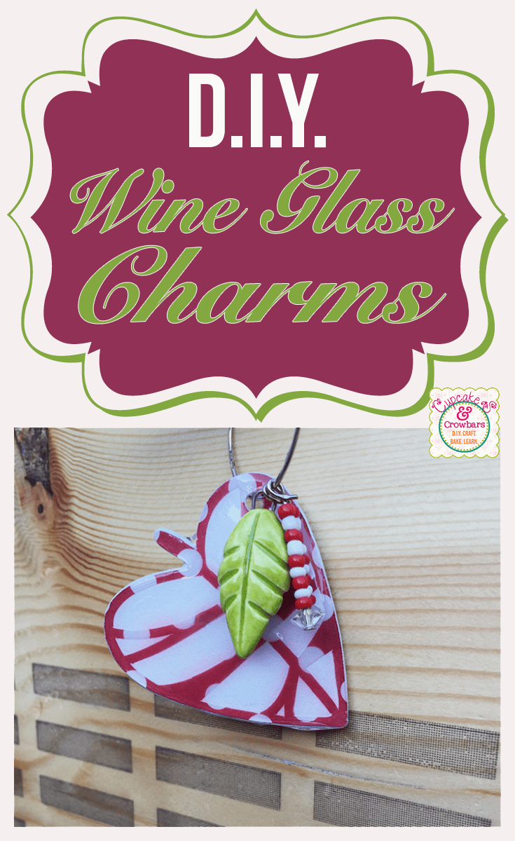 DIY Wine Charms using Silhouette Cameo | Silhouette October 2014 Challenge via http://cupcakesandcrowbars.com @cupcakescrowbar