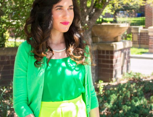 Green on Green for Spring   www.cupcakesandthecosmos.com