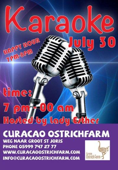 Karaoke Night at Ostrich Farm Curacao