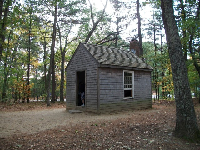 Thoreau's cabin seemed the perfect venue for the writer's life.