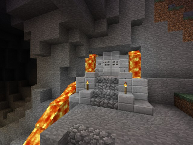 Minecraft/DwarfFortress Entrance with Lava Trap