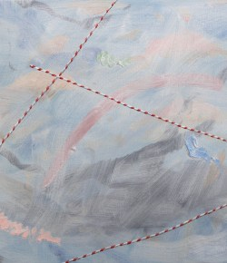 Stringed, 2014, Oil and graphite on canvas, 12 x 14 inches