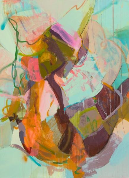 """""""Metamorphosis"""" Acrylic, spray paint, house paint on canvas 72x52"""