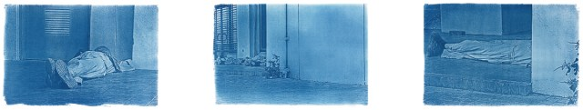 What is there will be there tomorrow, 2012 Cyanotype print on watercolor paper