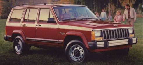 Jeep Cherokee 1985 red